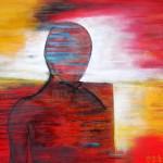 """Acryl auf Leinwand """"Ein Teil der Wahrnehmung des ICH's - Du schon wieder"""", 140 x 115 cm, 2013"""