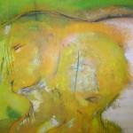 """Acryl auf Papier; """"Green Day""""; 140 x 180 cm; 2010"""