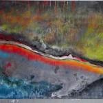 """Acryl auf Leinwand, 130 x 190 cm """"Roter Streifen"""""""