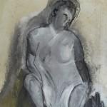 """Acryl auf Leinwand; """"Wer bin ich?""""; 200 x 140 cm; 2013"""